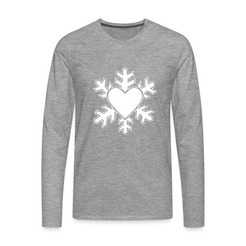 Flocon coeur 3D - T-shirt manches longues Premium Homme