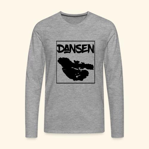 Dansen Karta - Långärmad premium-T-shirt herr