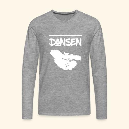 DansenKartaVit - Långärmad premium-T-shirt herr