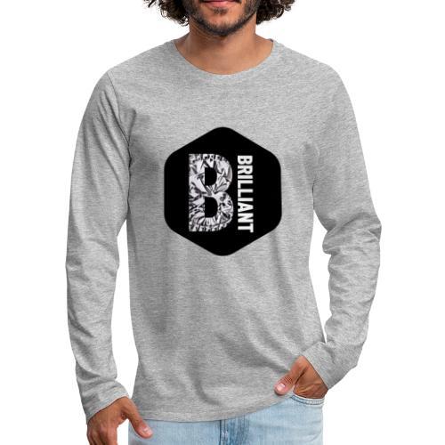 B brilliant black - Mannen Premium shirt met lange mouwen