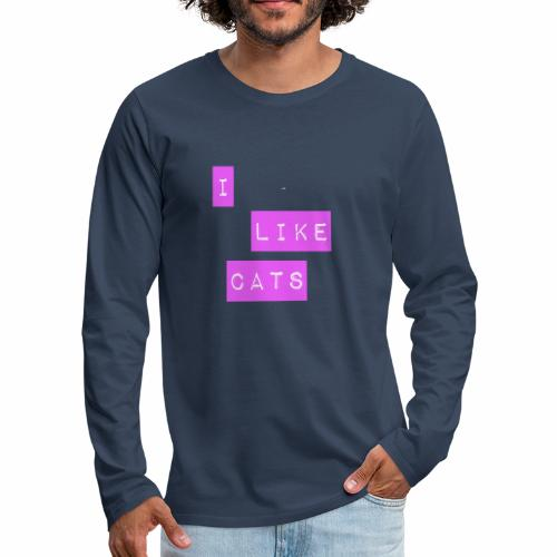 I like cats - Men's Premium Longsleeve Shirt