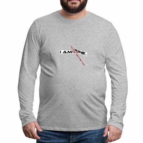 I AM FINE Design mit Schnitt, Depression, Cut - Männer Premium Langarmshirt