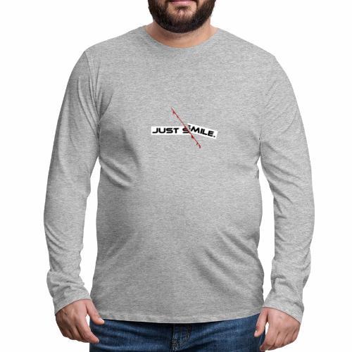 JUST SMILE Design mit blutigem Schnitt, Depression - Männer Premium Langarmshirt