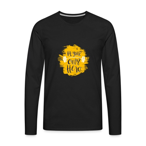 GYM Hero - Miesten premium pitkähihainen t-paita