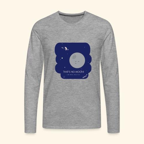Mimas - Thats no moon - Långärmad premium-T-shirt herr