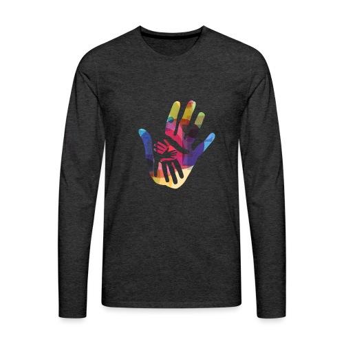 logo_storien - Premium langermet T-skjorte for menn