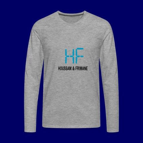 h&f - Maglietta Premium a manica lunga da uomo