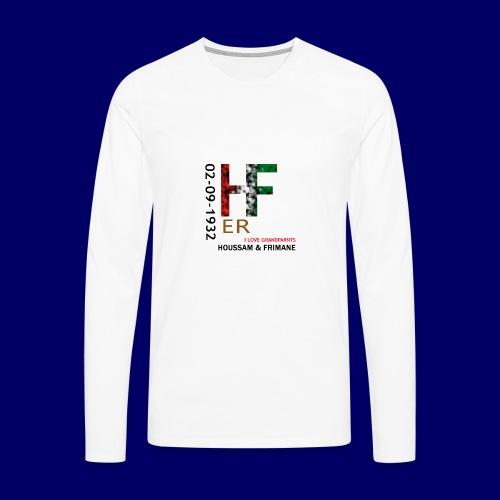 H&F ER - Maglietta Premium a manica lunga da uomo