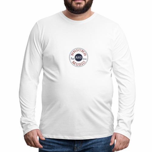BRICKS AND MUSIC - Maglietta Premium a manica lunga da uomo