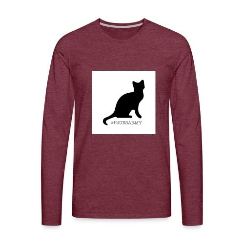 #pjoesarmy met poes - Mannen Premium shirt met lange mouwen