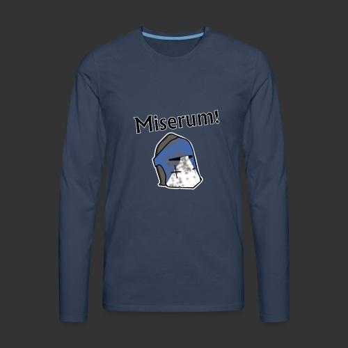 Warden Cytat Miserum! - Koszulka męska Premium z długim rękawem