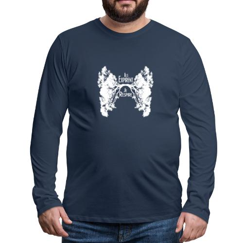 Oxygène blanc - T-shirt manches longues Premium Homme