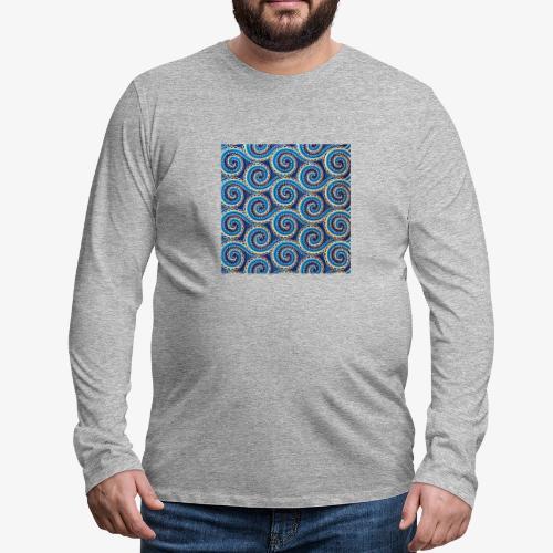 Spirales au motif bleu - T-shirt manches longues Premium Homme