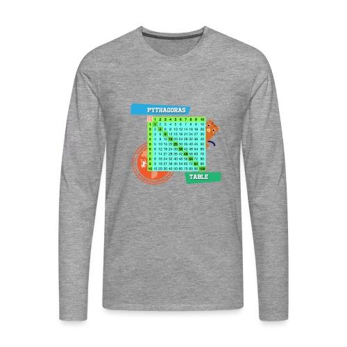 Pythagoras table - Premium langermet T-skjorte for menn