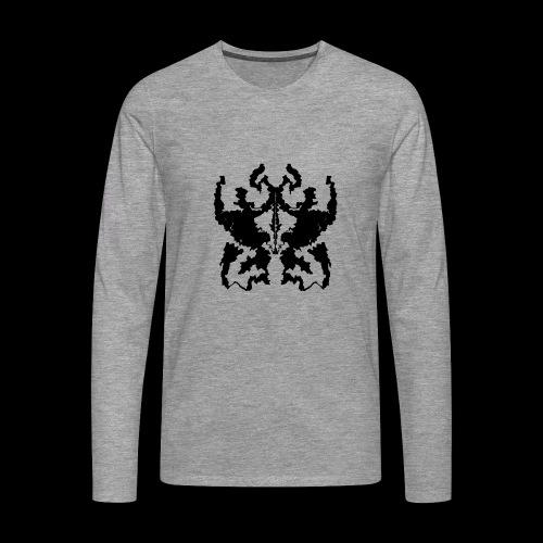 Rorschachtest Design - Männer Premium Langarmshirt