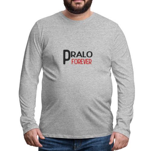 pralo forever noir et rouge - T-shirt manches longues Premium Homme