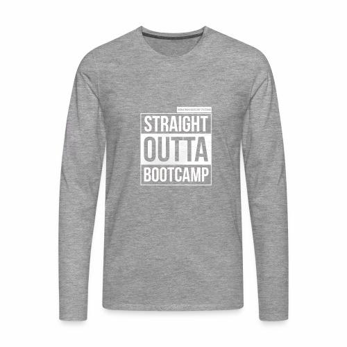 Suoraan Bootcampilta - Miesten premium pitkähihainen t-paita