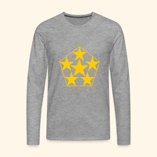 5 STAR gelb - Männer Premium Langarmshirt