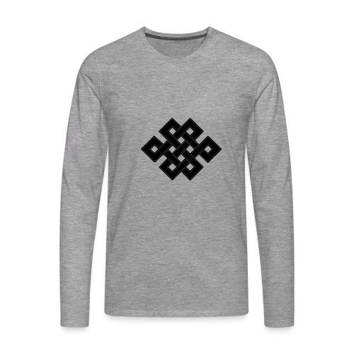 nodo buddha - Maglietta Premium a manica lunga da uomo