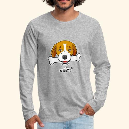 Nice Dogs Semolino - Maglietta Premium a manica lunga da uomo