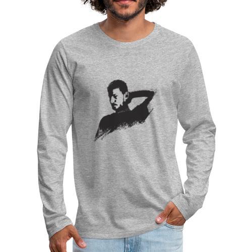 illustration zoom dario noir - T-shirt manches longues Premium Homme