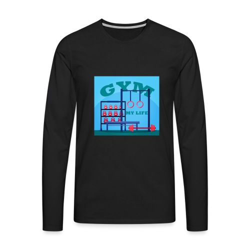 GYM - Miesten premium pitkähihainen t-paita