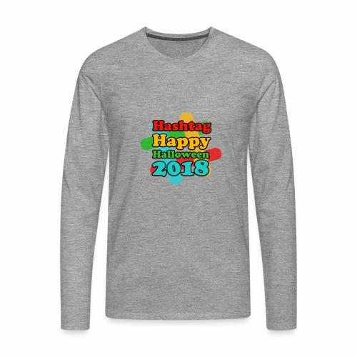 hashtag happy halloween 2018 - T-shirt manches longues Premium Homme