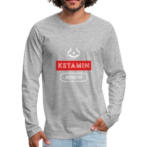 KETAMIN Rock Star - White/Red - Modern - Men's Premium Longsleeve Shirt