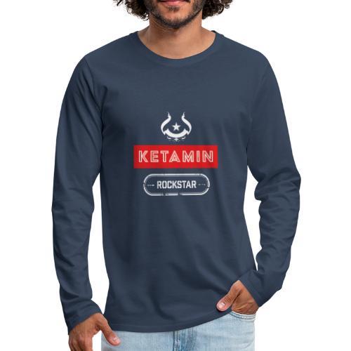 KETAMIN Rock Star - Weiß/Rot - Modern - Men's Premium Longsleeve Shirt