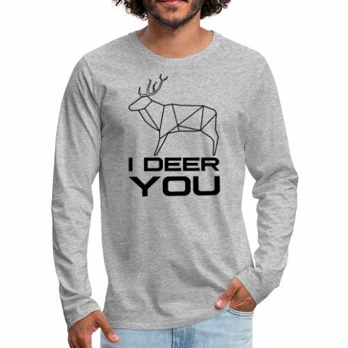 I Deer You - Mannen Premium shirt met lange mouwen