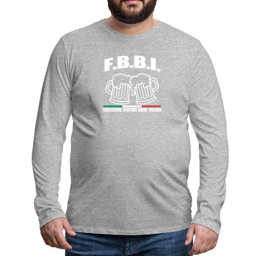FBBI - Maglietta Premium a manica lunga da uomo