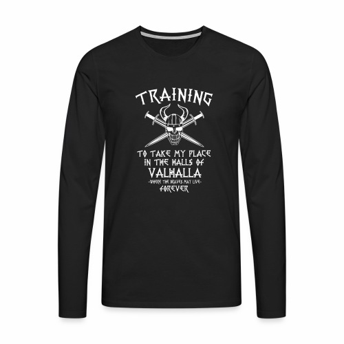 training for Valhalla - Camiseta de manga larga premium hombre