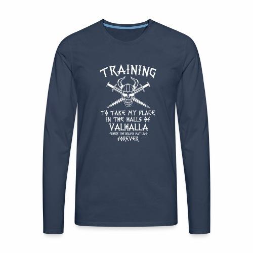training for Valhalla - Camiseta de manga larga premium hombre