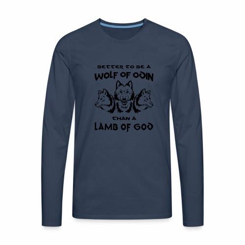 Wolf of Odin - Camiseta de manga larga premium hombre