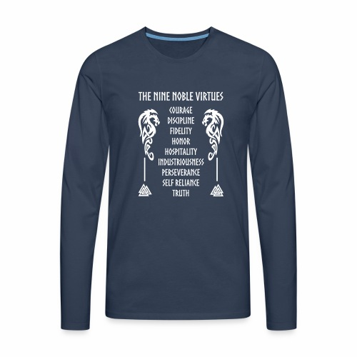 Nine nobles virtues - Camiseta de manga larga premium hombre