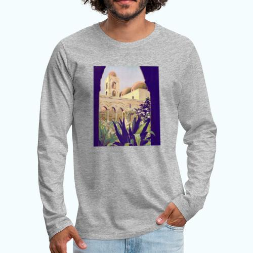 Palermo Vintage Travel Poster - Men's Premium Longsleeve Shirt