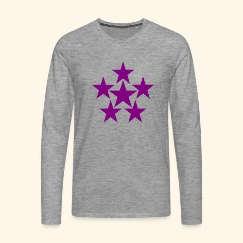 5 STAR lilla - Männer Premium Langarmshirt