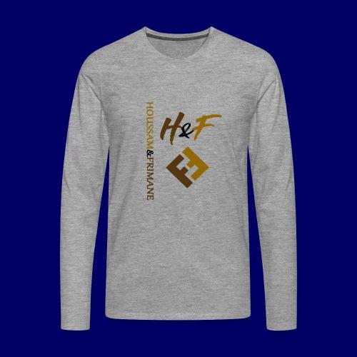 h&F luxury style - Maglietta Premium a manica lunga da uomo