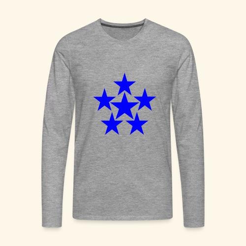 5 STAR blau - Männer Premium Langarmshirt