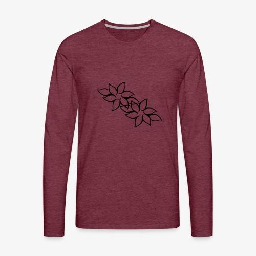 flowers - Herre premium T-shirt med lange ærmer