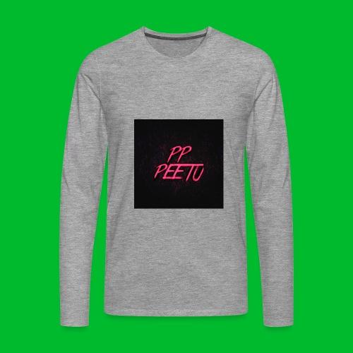 Ppppeetu logo - Miesten premium pitkähihainen t-paita