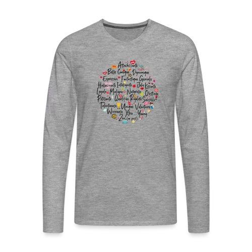 girly ABC book / abécédaire girly - T-shirt manches longues Premium Homme