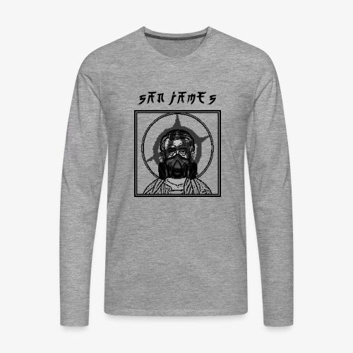 San James Logo+Txt no font - T-shirt manches longues Premium Homme