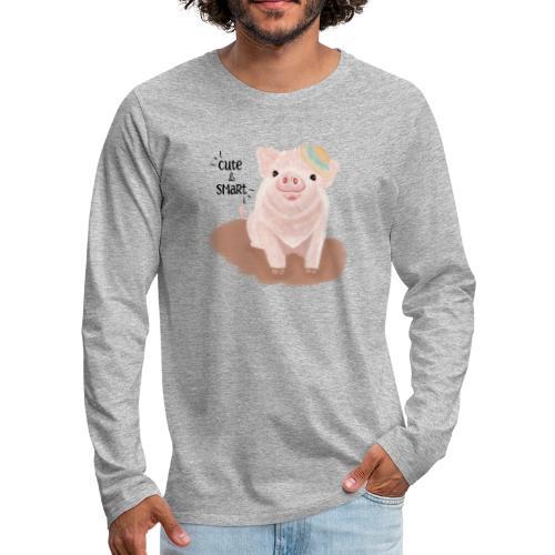 Cute & Smart Pig - Men's Premium Longsleeve Shirt