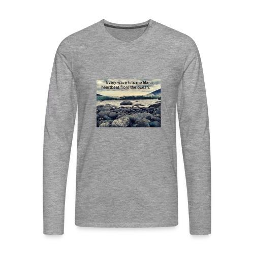 Oceanheart - Premium langermet T-skjorte for menn