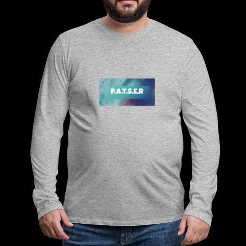 patser - Mannen Premium shirt met lange mouwen