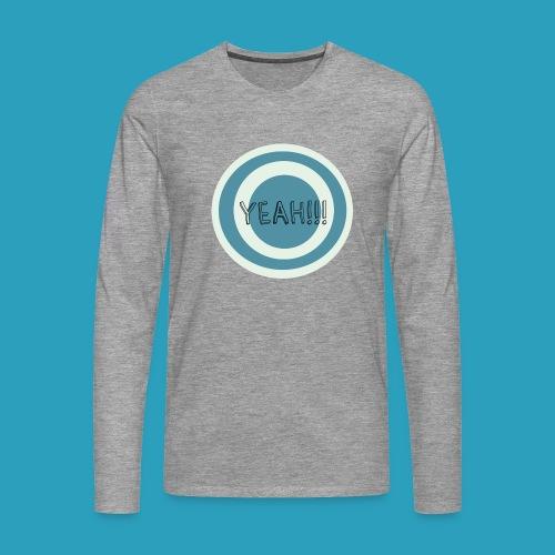 Yeah blauw png - Mannen Premium shirt met lange mouwen