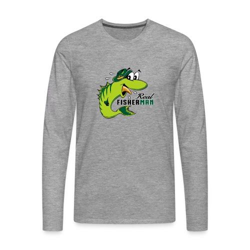 10-38 REAL FISHERMAN - TODELLINEN KALASTAJA - Miesten premium pitkähihainen t-paita