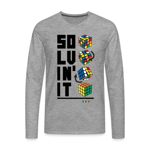 Rubik's Cube Solvin' It - Men's Premium Longsleeve Shirt
