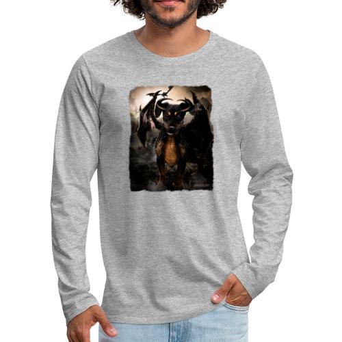 Canis Draconi Terrier - Mannen Premium shirt met lange mouwen